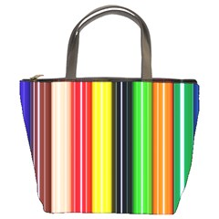 Colorful Striped Background Wallpaper Pattern Bucket Bags