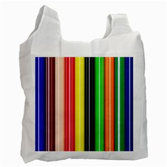 Colorful Striped Background Wallpaper Pattern Recycle Bag (Two Side)