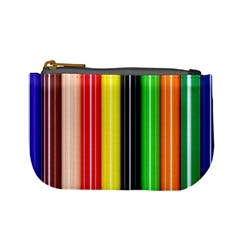 Colorful Striped Background Wallpaper Pattern Mini Coin Purses
