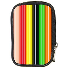 Colorful Striped Background Wallpaper Pattern Compact Camera Cases
