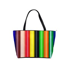 Colorful Striped Background Wallpaper Pattern Shoulder Handbags