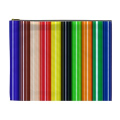 Colorful Striped Background Wallpaper Pattern Cosmetic Bag (XL)