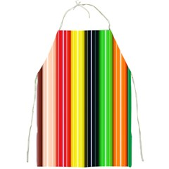 Colorful Striped Background Wallpaper Pattern Full Print Aprons