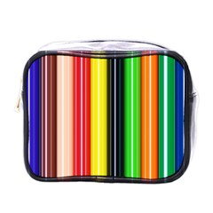 Colorful Striped Background Wallpaper Pattern Mini Toiletries Bags
