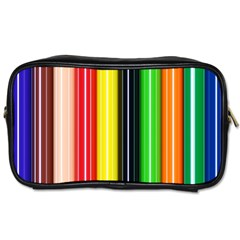 Colorful Striped Background Wallpaper Pattern Toiletries Bags 2 Side