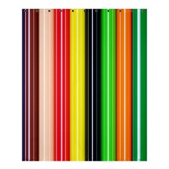 Colorful Striped Background Wallpaper Pattern Shower Curtain 60  X 72  (medium)