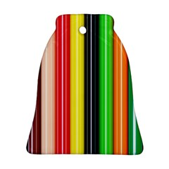 Colorful Striped Background Wallpaper Pattern Ornament (bell)