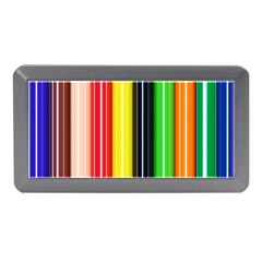 Colorful Striped Background Wallpaper Pattern Memory Card Reader (Mini)