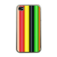 Colorful Striped Background Wallpaper Pattern Apple Iphone 4 Case (clear)