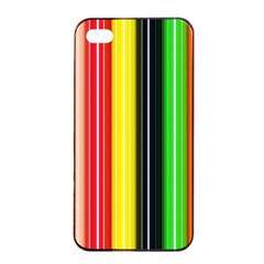 Colorful Striped Background Wallpaper Pattern Apple Iphone 4/4s Seamless Case (black)