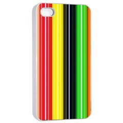 Colorful Striped Background Wallpaper Pattern Apple Iphone 4/4s Seamless Case (white)