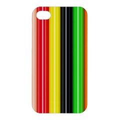 Colorful Striped Background Wallpaper Pattern Apple Iphone 4/4s Hardshell Case