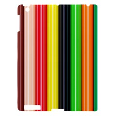 Colorful Striped Background Wallpaper Pattern Apple Ipad 3/4 Hardshell Case