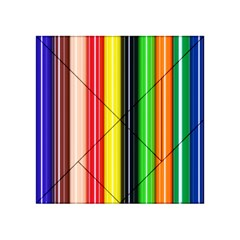 Colorful Striped Background Wallpaper Pattern Acrylic Tangram Puzzle (4  X 4 )