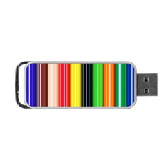 Colorful Striped Background Wallpaper Pattern Portable Usb Flash (two Sides)