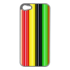 Colorful Striped Background Wallpaper Pattern Apple Iphone 5 Case (silver)
