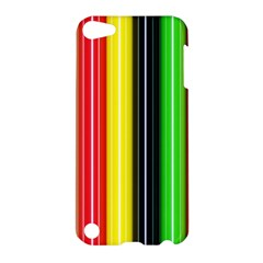 Colorful Striped Background Wallpaper Pattern Apple iPod Touch 5 Hardshell Case