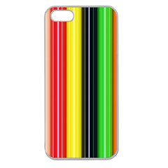 Colorful Striped Background Wallpaper Pattern Apple Seamless iPhone 5 Case (Clear)