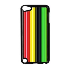 Colorful Striped Background Wallpaper Pattern Apple iPod Touch 5 Case (Black)
