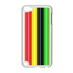 Colorful Striped Background Wallpaper Pattern Apple Ipod Touch 5 Case (white)