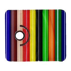 Colorful Striped Background Wallpaper Pattern Galaxy S3 (flip/folio)