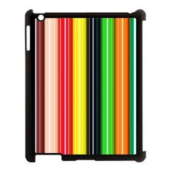 Colorful Striped Background Wallpaper Pattern Apple Ipad 3/4 Case (black)