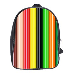 Colorful Striped Background Wallpaper Pattern School Bags (xl)