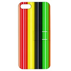 Colorful Striped Background Wallpaper Pattern Apple Iphone 5 Hardshell Case With Stand