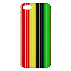 Colorful Striped Background Wallpaper Pattern Apple iPhone 5 Premium Hardshell Case
