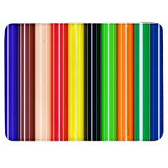 Colorful Striped Background Wallpaper Pattern Samsung Galaxy Tab 7  P1000 Flip Case