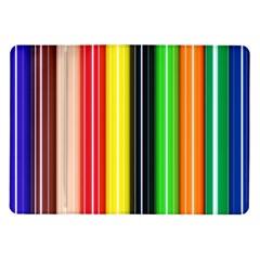 Colorful Striped Background Wallpaper Pattern Samsung Galaxy Tab 10 1  P7500 Flip Case