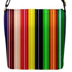 Colorful Striped Background Wallpaper Pattern Flap Messenger Bag (s)