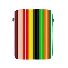 Colorful Striped Background Wallpaper Pattern Apple iPad 2/3/4 Protective Soft Cases