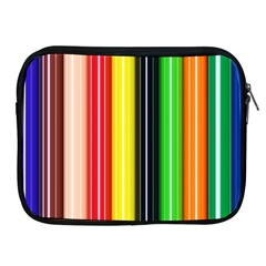 Colorful Striped Background Wallpaper Pattern Apple iPad 2/3/4 Zipper Cases