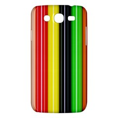 Colorful Striped Background Wallpaper Pattern Samsung Galaxy Mega 5.8 I9152 Hardshell Case
