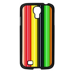Colorful Striped Background Wallpaper Pattern Samsung Galaxy S4 I9500/ I9505 Case (black)