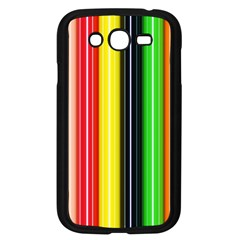 Colorful Striped Background Wallpaper Pattern Samsung Galaxy Grand Duos I9082 Case (black)