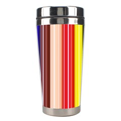 Colorful Striped Background Wallpaper Pattern Stainless Steel Travel Tumblers
