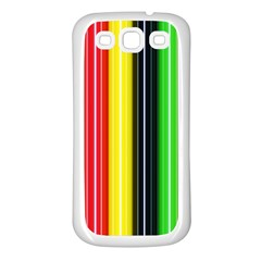 Colorful Striped Background Wallpaper Pattern Samsung Galaxy S3 Back Case (white)