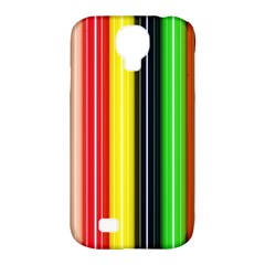 Colorful Striped Background Wallpaper Pattern Samsung Galaxy S4 Classic Hardshell Case (pc+silicone)