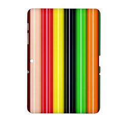 Colorful Striped Background Wallpaper Pattern Samsung Galaxy Tab 2 (10 1 ) P5100 Hardshell Case
