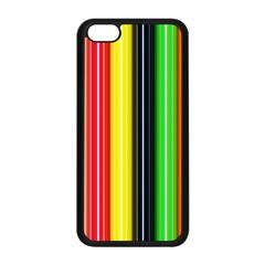 Colorful Striped Background Wallpaper Pattern Apple iPhone 5C Seamless Case (Black)