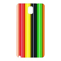 Colorful Striped Background Wallpaper Pattern Samsung Galaxy Note 3 N9005 Hardshell Back Case