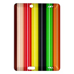 Colorful Striped Background Wallpaper Pattern Amazon Kindle Fire Hd (2013) Hardshell Case