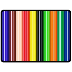 Colorful Striped Background Wallpaper Pattern Double Sided Fleece Blanket (large)