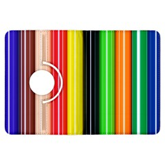 Colorful Striped Background Wallpaper Pattern Kindle Fire Hdx Flip 360 Case