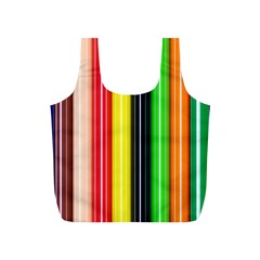 Colorful Striped Background Wallpaper Pattern Full Print Recycle Bags (S)