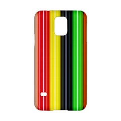 Colorful Striped Background Wallpaper Pattern Samsung Galaxy S5 Hardshell Case