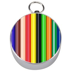 Colorful Striped Background Wallpaper Pattern Silver Compasses