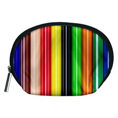 Colorful Striped Background Wallpaper Pattern Accessory Pouches (medium)